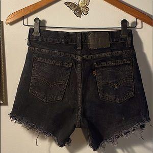 Vintage Orange Tab Levi's Cut Off Shorts